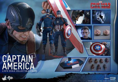 Hottoys Civil War Caption America MMS 350