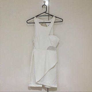 BLOSSOM Size 8 White Party Dress