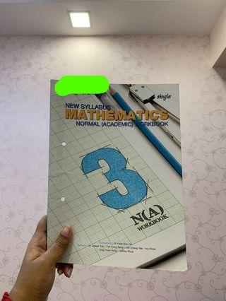 🚚 NA MATHS WORK BOOK SEC THREE