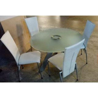 Round Glass top dinning set ($350 with free delivery)