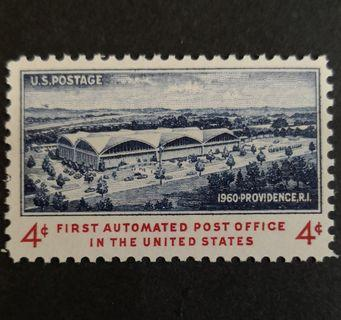 USA 1960. First Automated Post Office complete stamp set of 1
