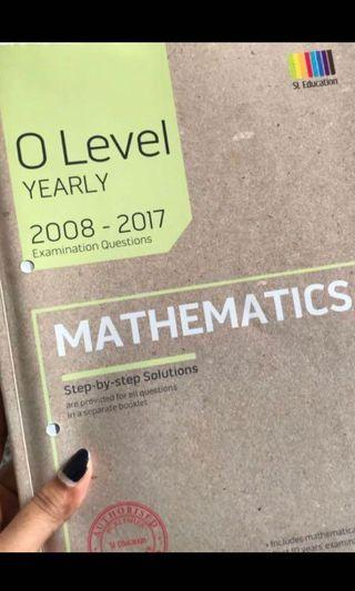 o level maths Tys with answer sheet