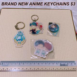 Love live/ haikyuu/ pmmm/ gekkan shoujo keychains