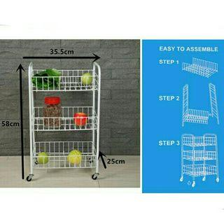 *FREE POST to West Malaysia only / Ready stock* Kitchen rack 3 layers each as shown in design / color. Free delivery is applied for this item.
