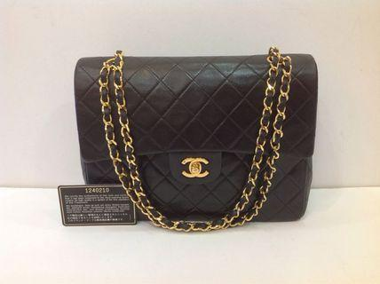 CHANEL CLASSIC LAMBSKIN 25CM TALL FLAP BAG GHW