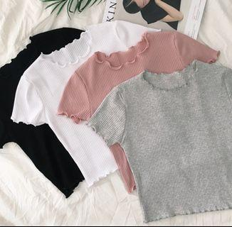 💫ulzzang knitted crop top