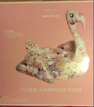 Fun Boy floral flamingo