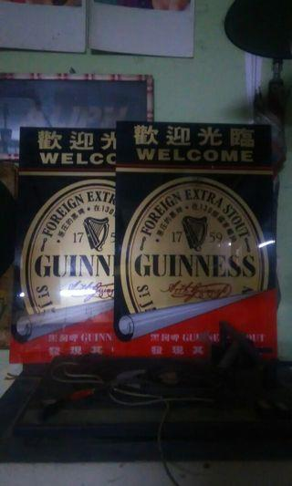 Guinness stout sign..