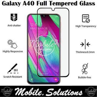 Samsung A40 Full Coverage Tempered Glass Screen Protector