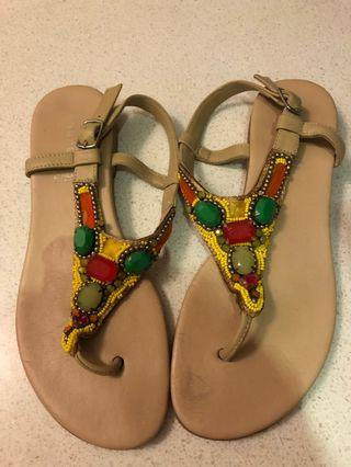 French brand Andre leather sandals