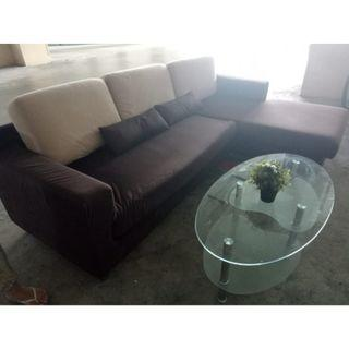 L shape Sofa with coffee table ($360 with free delivery )