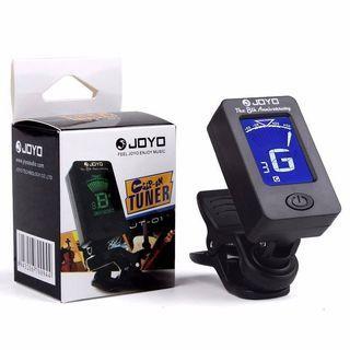 🚚 Joyo Guitar Tuner JT-01 Chromatic Clip-On Digital 360 Degree Rotatable for electric bass violin