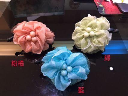 🚚 #022 韓版花朵相交夾馬尾夾/件