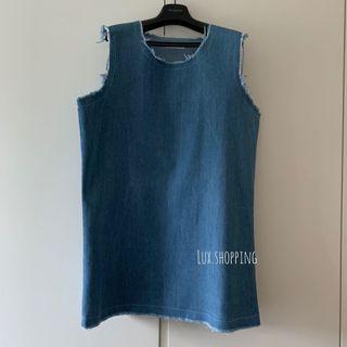 韓國🇰🇷 star lazy 買399 流蘇 牛仔布 背心裙 淺藍色 連身裙 light blue denim dress