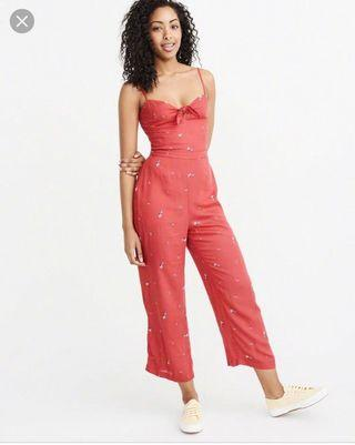 A&F Womens Knot Front Jumpsuit