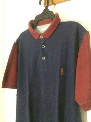 Prvs Star Polo Shirt Kaos Navy Merah Abu