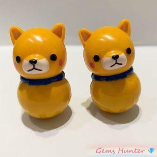 Amuse 柴犬三兄弟 不倒翁 公仔 擺設 精品 Namco 冒險樂園 小玩具 禮物