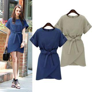 Up to 5XL: Ribbon Office Dress