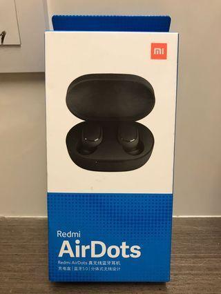全新未開盒小米紅米redmi airdots 真藍芽5.0 無線耳機