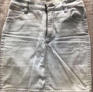 Wrangler High Waist Denim Skirt #SwapAU