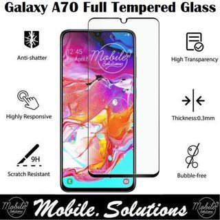 Samsung A70 Full Coverage Tempered Glass Screen Protector