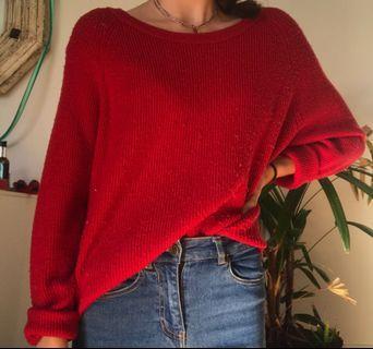 Zara  red jumper