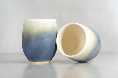 日本陶器🇯🇵 椿+紫匂漸變手工杯