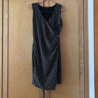 🚚 Striped V neck dress