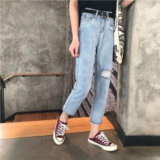 🐾 Simple Ribbed Boyfriend Jeans