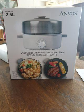 Anvos dual usage hot pot steamboat Cook wear. New 2.5L