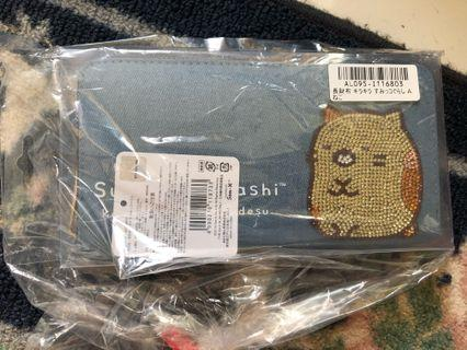 Sumikkogurashi denim wallet from Toreba japan