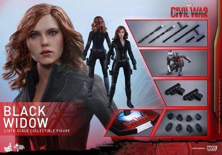 Hottoys Civil War Black Widow MMS 365