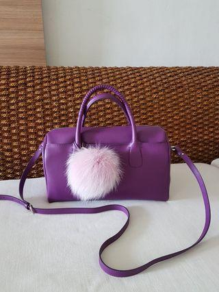 BN Salvatore Ferragamo Boston Bag with Detachable Sling