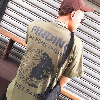 🚚 Agari 地球 earth 造物主 軍綠 短袖 T恤