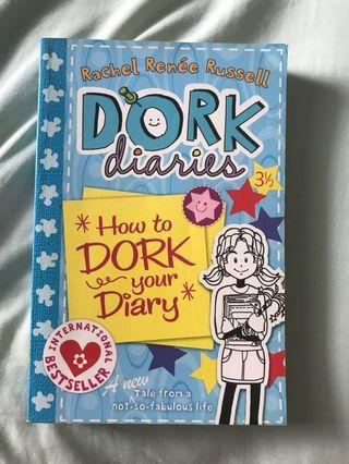 "buku impor dork diaries ""how to dork your diary"""