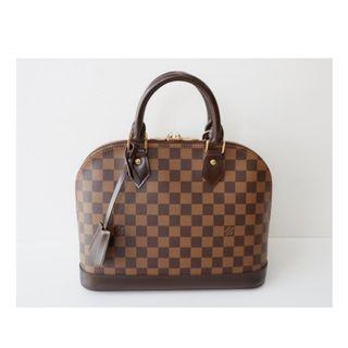 Authentic Louis Vuitton Alma PM Damier Ebene