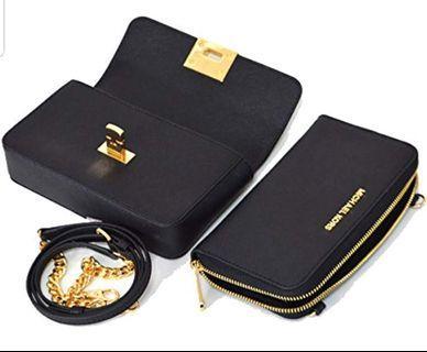 Michael Kors Tina Clutch Crossbody with Detachable Wallet