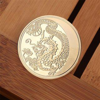【WholeSale 10pcs/sets】Chinese Dragon Pattern Commemorative Coin Challenge Coin Gift Collection #EndgameYourExcess