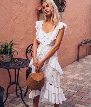 Alice McCall Clair De Lune Dress in White - Size 8 RRP $389