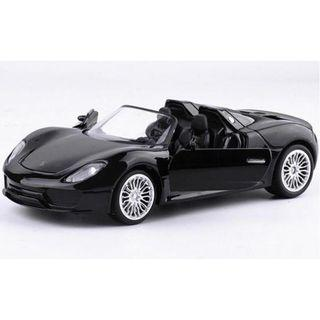 MZ Porsche 918 Spyder Die-cast Car Toy 1:32 Black / Silver New