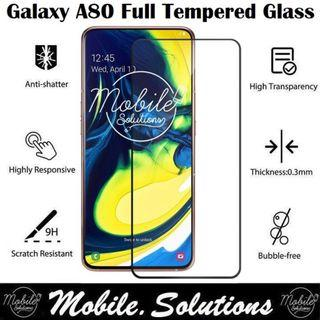 Samsung A80 Full Coverage Tempered Glass Screen Protector