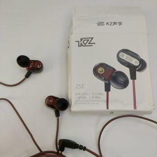 KZ zse雙單元耳機雙動圈手機耳機入耳式發燒HIFI耳機3.5mm有線耳機