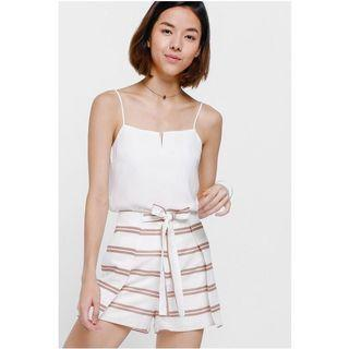 Love Bonito Shara Striped Foldover Shorts