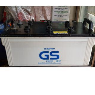(二手中古電池) GS 210H52 (190H52 / N200加強) 遊覽車.卡車.發電機 數值漂亮,品項優