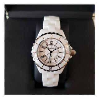 Authentic Chanel J12 Ceramic White Watch