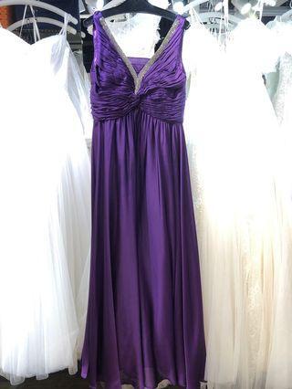 紫色晚裝裙