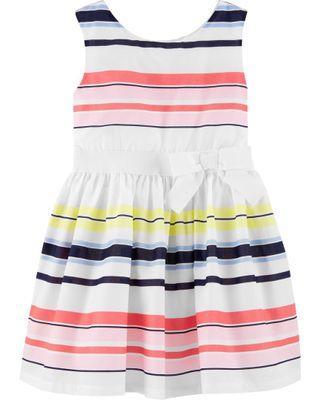 Cater's Poplin Striped Dresses
