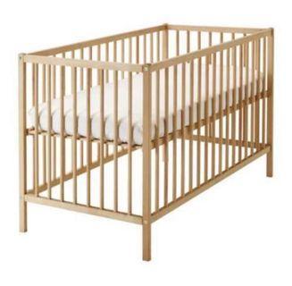 Ikea Sniglar Baby Cot + Mattress + Bedsheet