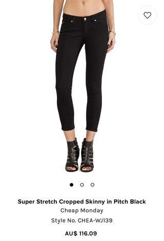 Cheap Monday Black Denim Jeans