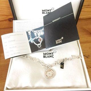 🚚 Auth Montblanc Silver Necklace & Diamond Charms